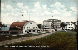Gem Theatre and Peaks Island House Postcard