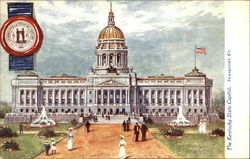 Kentucky State Capitol and Seal Postcard
