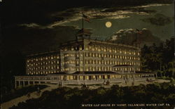 Water Gap House By Night Postcard