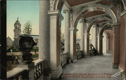 Colonnade in British Applied Arts Palace Postcard