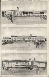Views of 3 Buildings of the San Diego Exposition, 1915