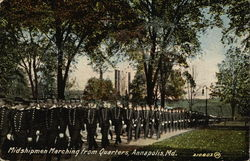 Midshipmen Marching from Quarters
