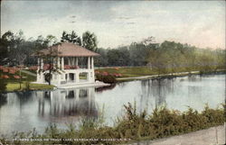 Band Stand on Trout Lake, Seneca Park Postcard