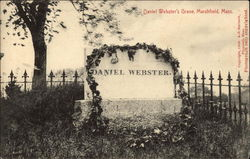 Daniel Webster's Grave Postcard