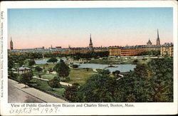 View of Public Garden from Beacon and Charles Street