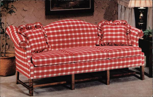 Country Charm Gingham Sofa Bloomsburg Pa