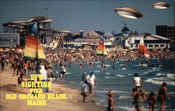 UFO Sighting over Old Orchard Beach Maine Exaggeration