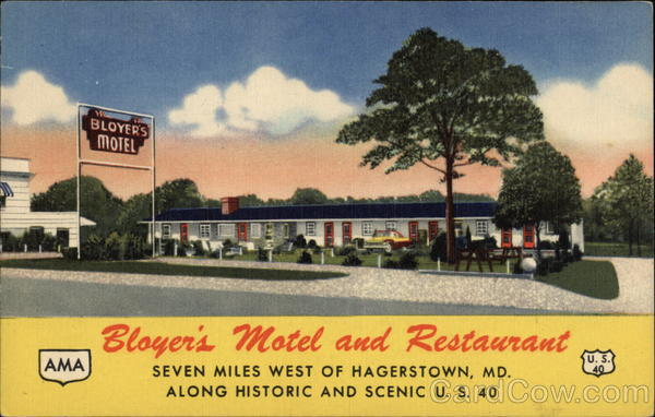 Bloyer's Motel and Restaurant Hagerstown Maryland