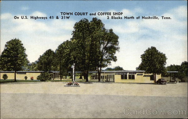 Town Court and Coffee Shop Nashville Tennessee