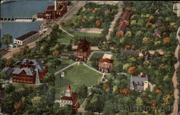 Aerial View of Campus of Beloit College Wisconsin