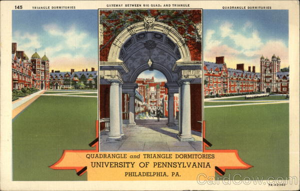 Quadrangle and Triangle Dormitories, University of Pennsylvania Philadelphia