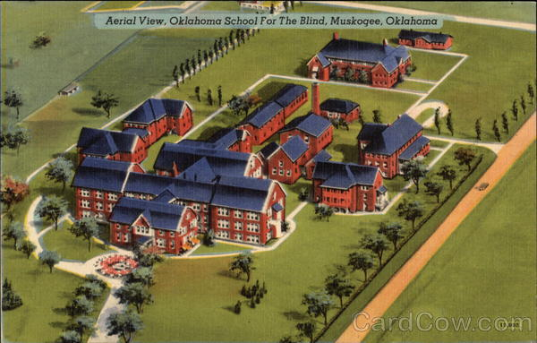 Aerial View, Oklahoma School for the Blind Muskogee