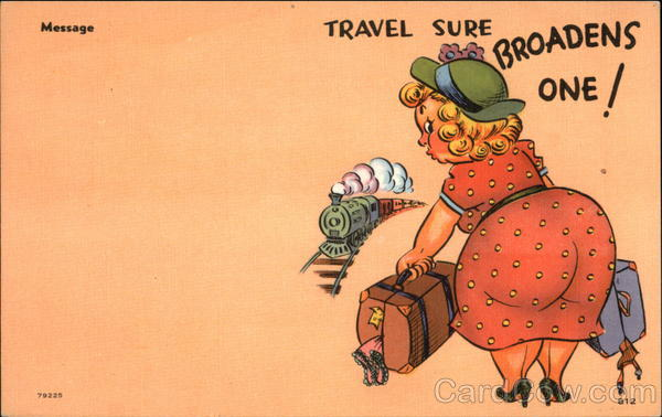 Travel Sure Broadens One! Comic, Funny