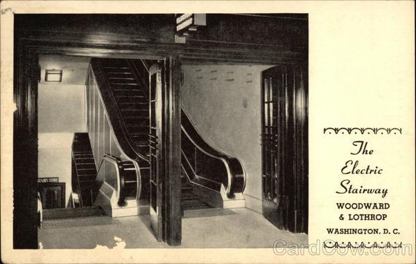The electric stairway woodward lothrop washington dc for 111 k street ne 10th floor washington dc 20002