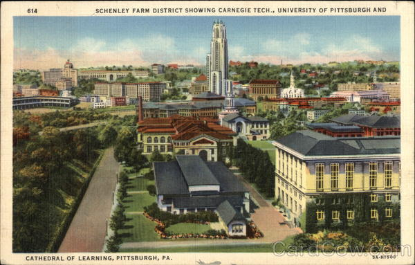 Schenley Farm District Showing Carnegie Tech., University of Pittsburgh and Cathedral of Learning Pennsylvania