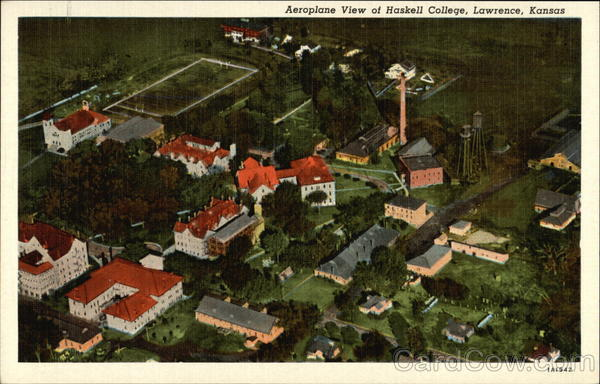 Aeroplane View of Haskell College Lawrence Kansas