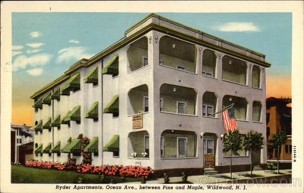 Ryder Apartments, Ocean Ave., between Pine and Maple Wildwood New Jersey