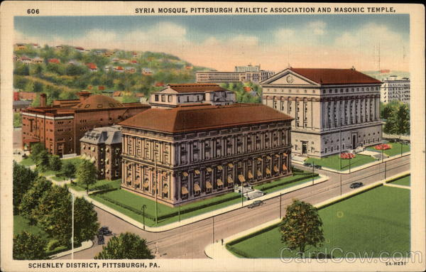 Syria Mosque, Pittsburgh Athletic Association and Masonic Temple, Schenley District Pennsylvania