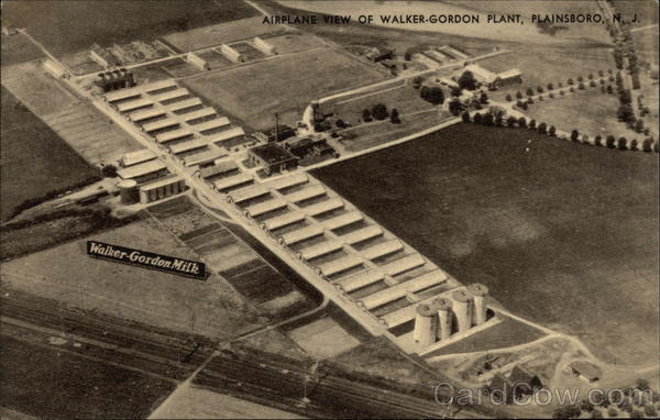 Airplane View of Walker-Gordon Plant Plainsboro New Jersey