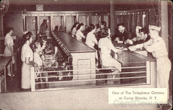 One of the Telephone Centers at Camp Shanks Orangetown New York