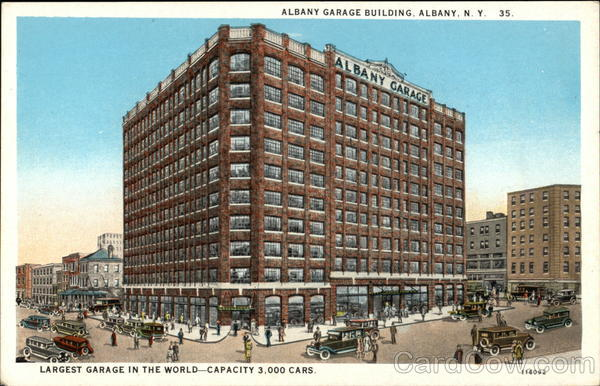 Albany Garage Building - Largest Garage in the World - Capacity 3,000 Cars New York