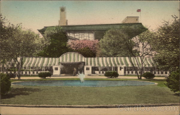 Belmont Park Entrance and Club House Long Island New York