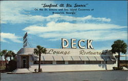 """Seafood at its source"" Deck lounge & restaurant"