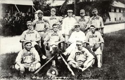 Guam 1918 US Naval Station Baseball Team Postcard