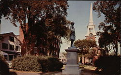 Statue of William Lloyd Garrison, Garrison House & Central Congregational Churc