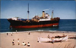 Freighter Aground at Peaked Hill Bars