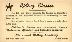 Riding Classes, Claremont Riding Academy