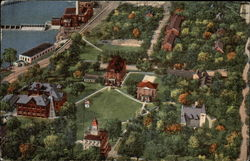 Aerial View of Campus of Beloit College Postcard