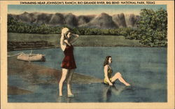 Swimming near Johnson's Ranch, Rio Grande River Postcard