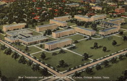 New dormitories and the Mess Hall at A&M College