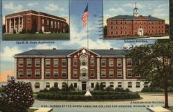 Scenes at the North Carolina College for Negroes Postcard