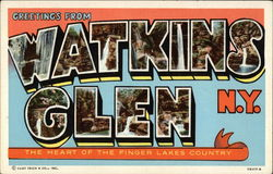 Greetings from Watkins Glen, The Heart of the Finger Lakes Country