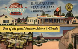 Sunset Manor Motel & Restaurant - One of the finest between Maine & Florida