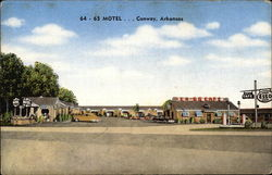 64 - 65 Motel ... Conway, Arkansas Postcard