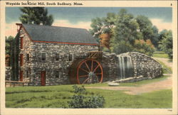 Wayside Inn, Old Grist Mill Postcard