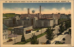 156 East Chocolate Avenue, The Post Office And The Huge Chocolate Plant Postcard