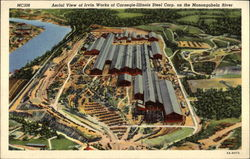 Aerial View of Irvin Works of Carnegie-Illinois Steel Corp on the Monongahela River