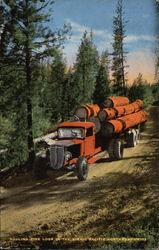 Hauling Pine Logs in the Scenic Northwest