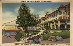 Oakland Beach Hotel - Showing New Marine Tap Room and Dancing Deck - East Side, Conneaut Lake, PA