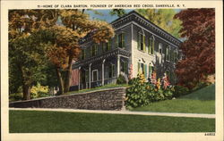 Home of Clara Barton, Founder of American Red Cross Postcard