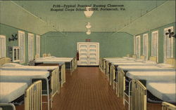 Typical Practical Nursing Classroom, Hospital Corps School. USNH