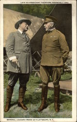 Late Ex-President Theodore Roosevelt and General Leonard Wood