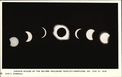 Various Stages of the Eclipse Including Totality