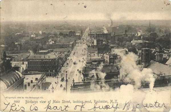 Birdseye View Of Main Street Rochester New York