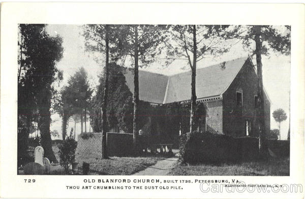 Old Blanford Church Petersburg Virginia