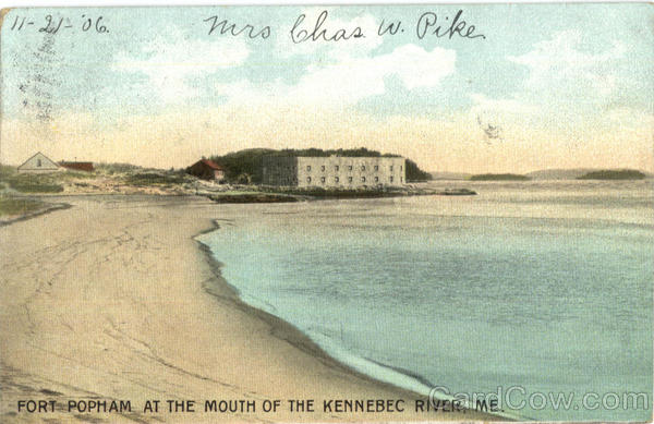 Fort Popham At The Mouth Of The Kennebec River Maine